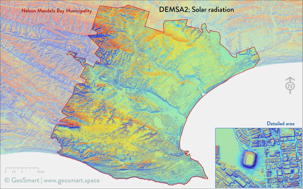 Solar radiation of Nelson Mandela Bay and Port Elizabeth