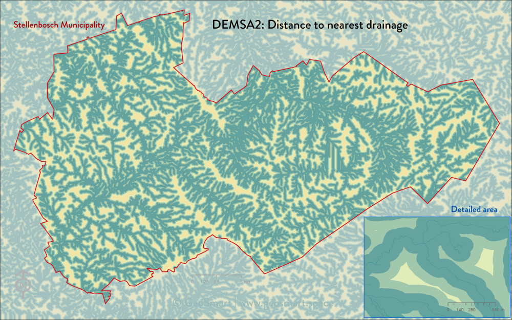 DEMSA2 Distance to nearest drainage