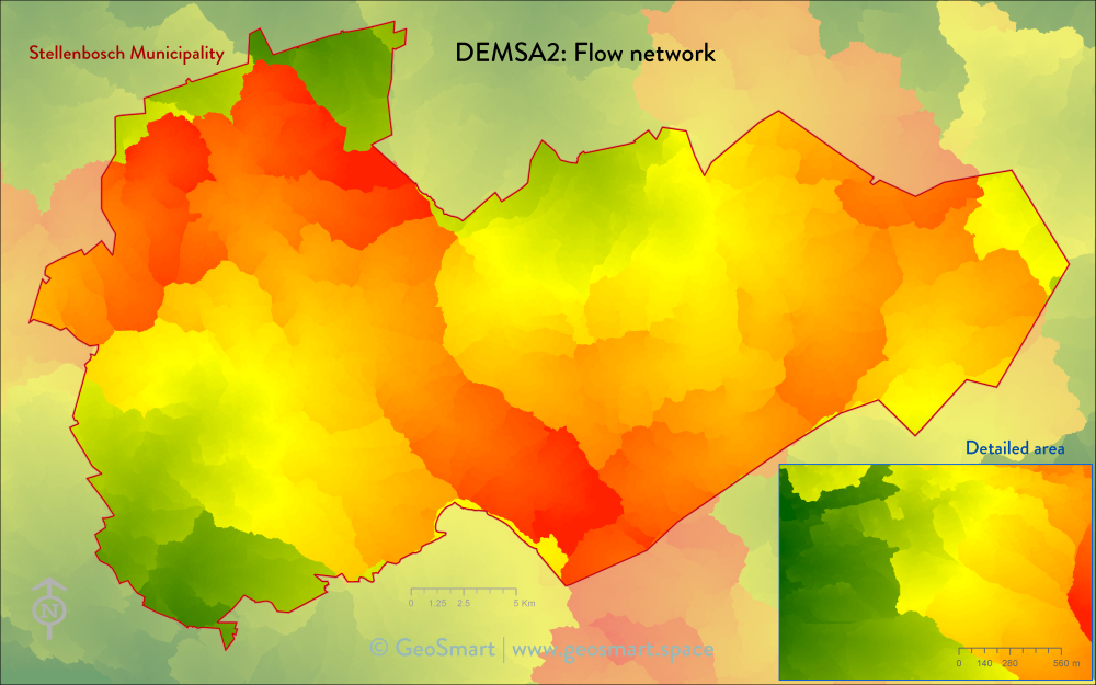 DEMSA2 Flow network