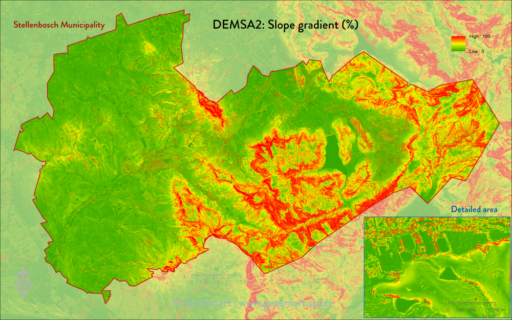 DEMSA2 Slope gradient