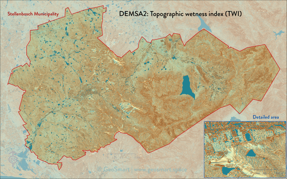DEMSA2 topographic wetness index (TWI)